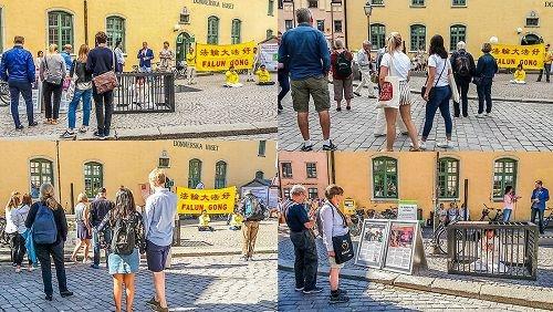 瑞典最大集会周传法轮功真相 議員声援